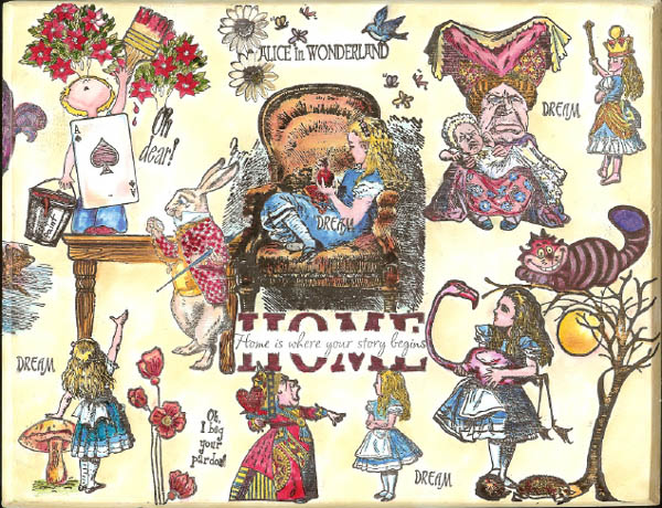 Alice in Wonderland box by Sue Larson January 2008