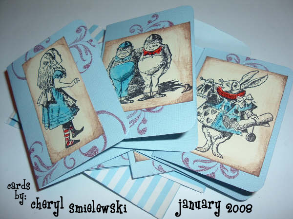 Alice in Wonderland Cards by Cheryl Smielewski