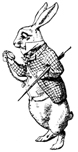 White Rabbit Checks His Pocketwatch Unmounted Rubber Stamp