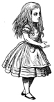 Alice Accepting Thimble Unmounted Rubber Stamp