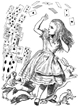 Alice and the Deck of Cards Unmounted Rubber Stamp