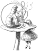 Alice and the Hookah-Smoking Caterpillar Unmounted Rubber Stamp