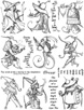 Freaks Unmounted Rubber Stamp Sheet