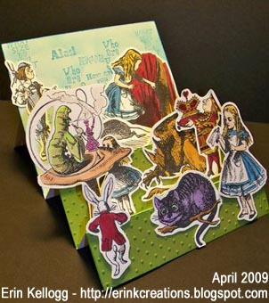 Alice in Wonderland Stair Step Card - Erin K - April 2009