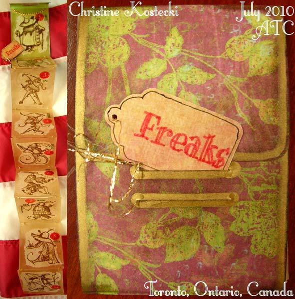 Freaks ATC card set by Christine Kostecki - July 2010