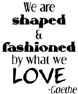 We Are Shaped Unmounted Rubber Stamp