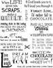 Chocolate Phrases Unmounted Rubber Stamp Sheet